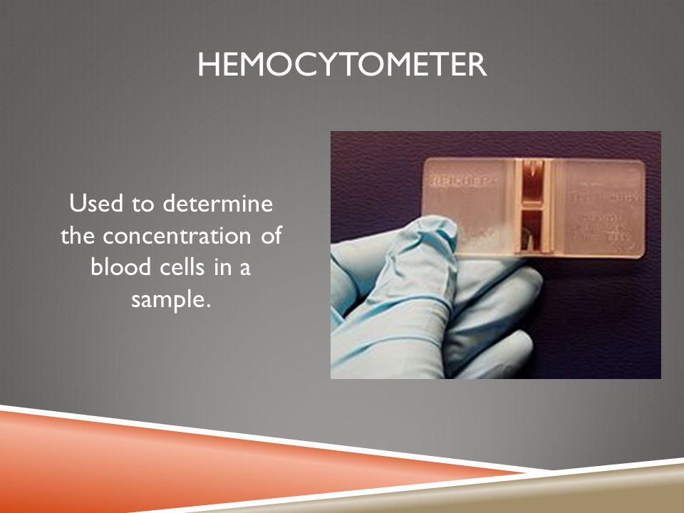 Used to determine the concentration of blood cells in a sample.