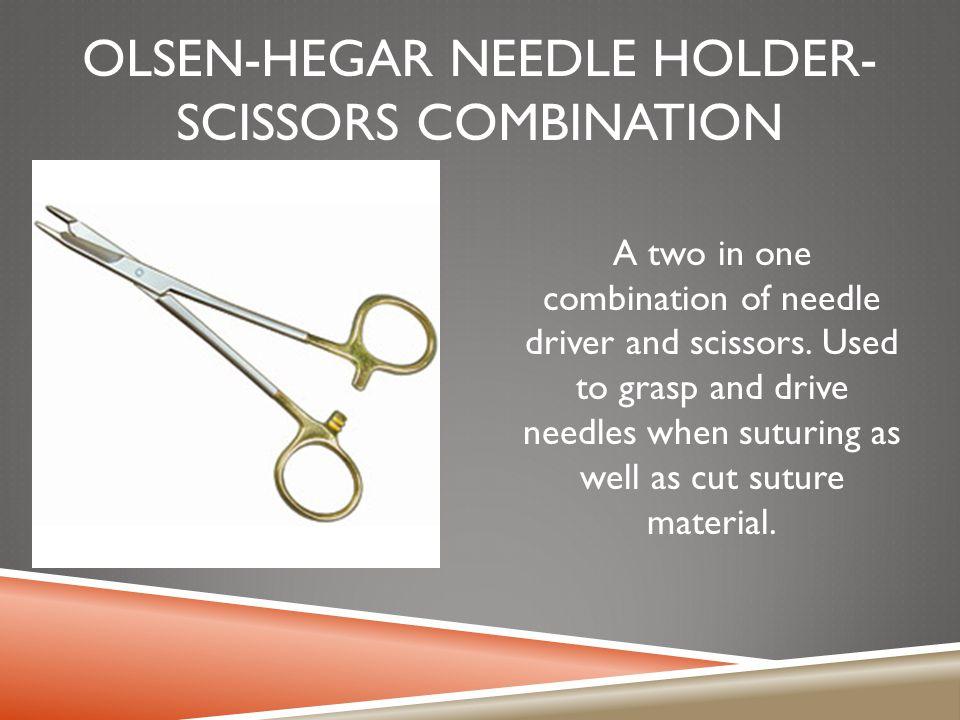 Olsen-hegar needle holder-scissors combination
