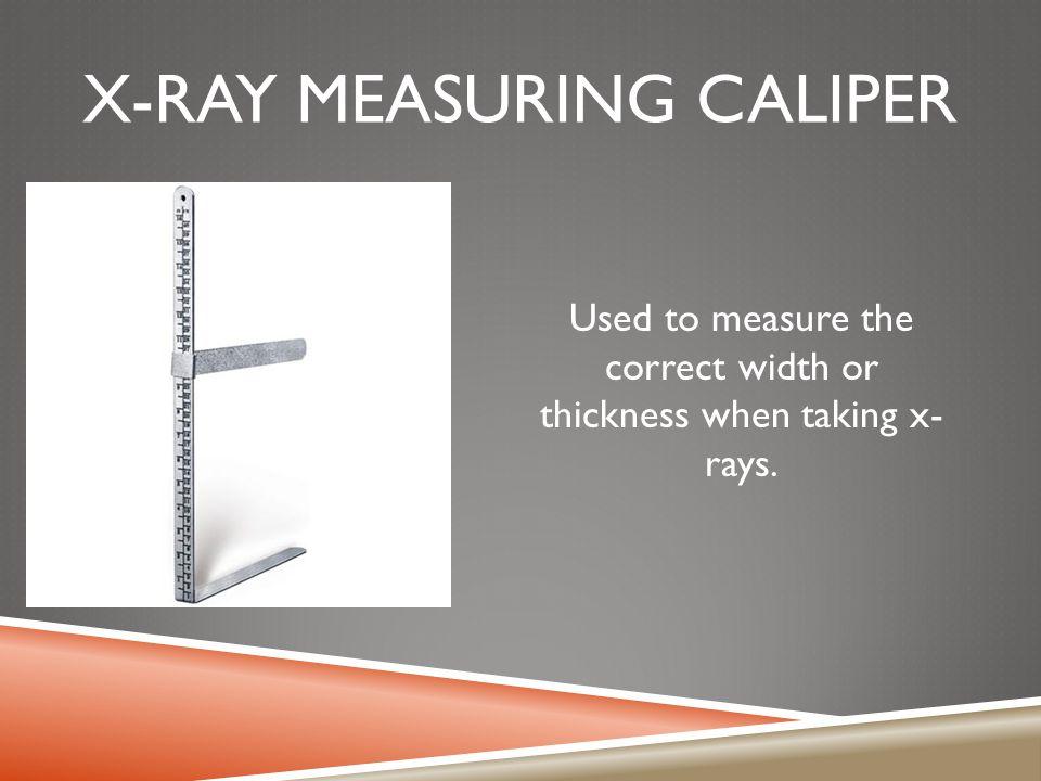 X-ray measuring caliper