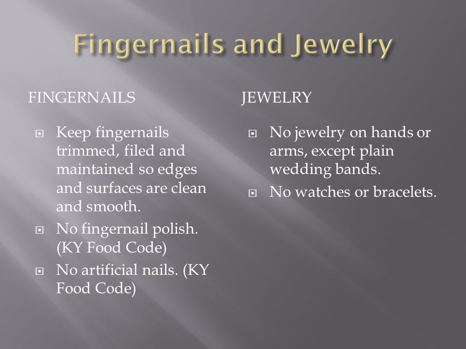 Fingernails and Jewelry