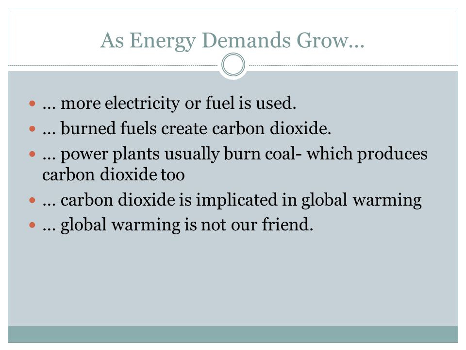 As Energy Demands Grow…