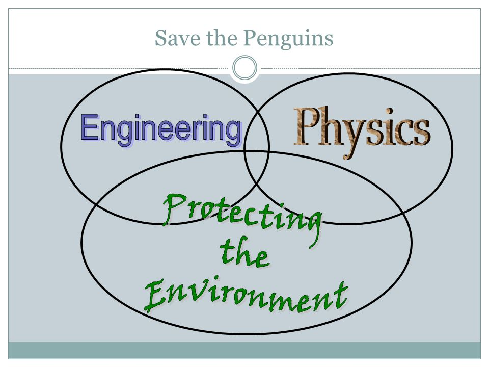 Protecting the Environment Physics Engineering Save the Penguins