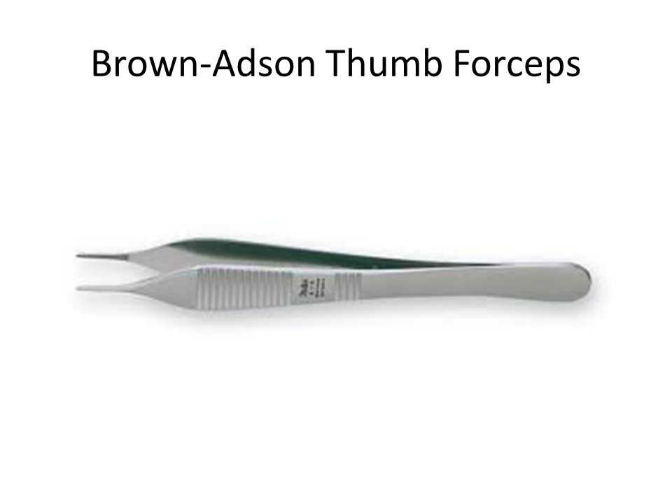 Brown-Adson Thumb Forceps
