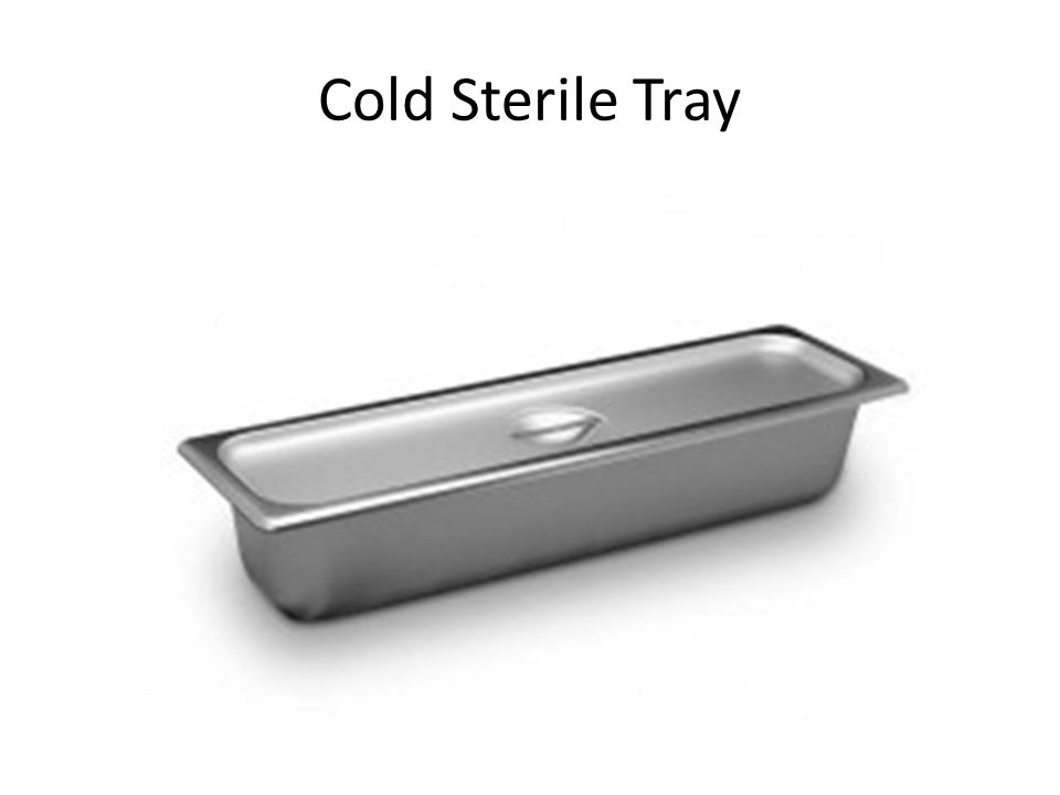 Cold Sterile Tray