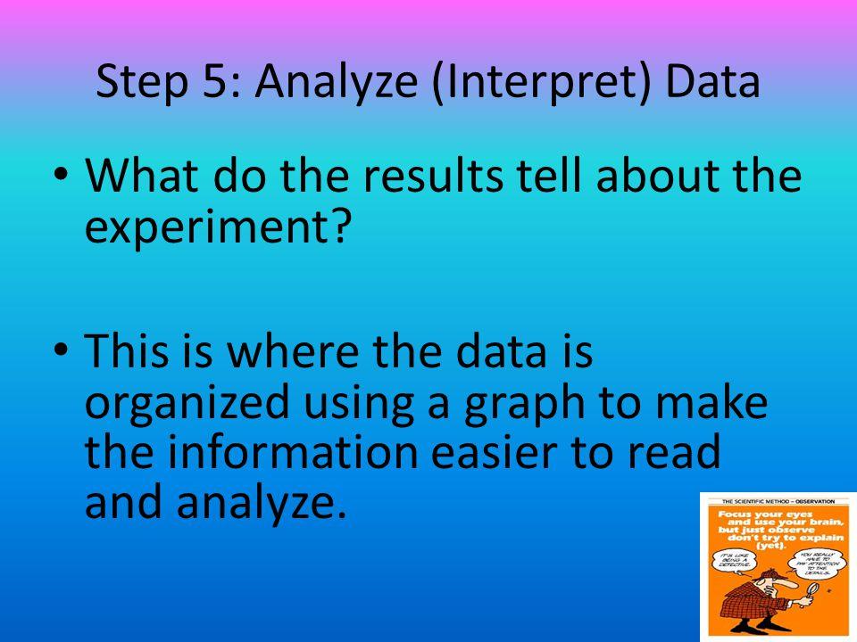 Step 5: Analyze (Interpret) Data