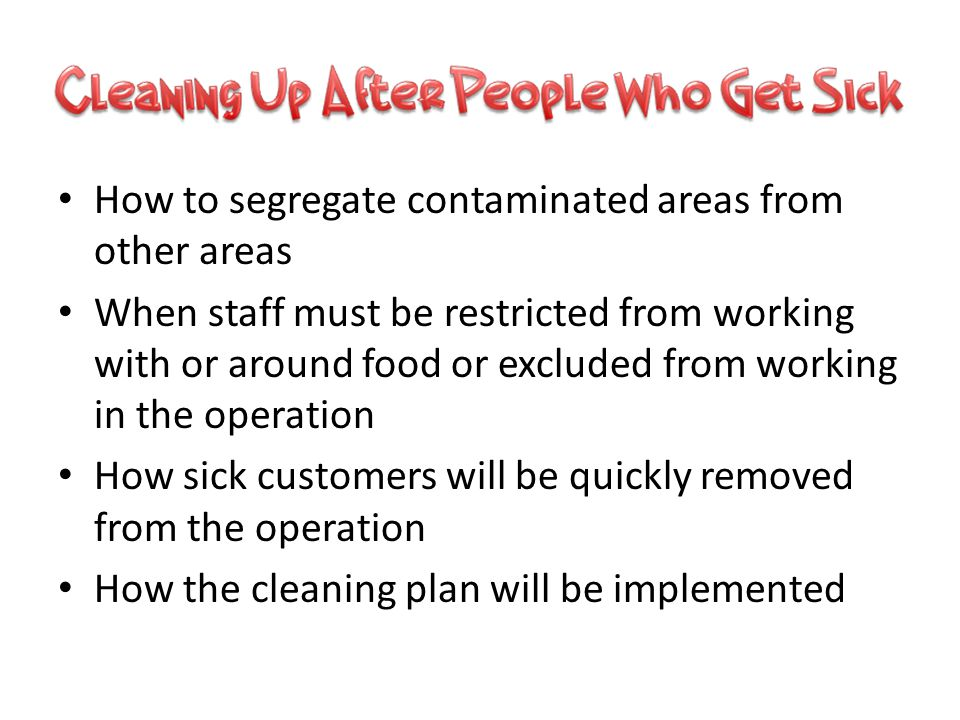 How to segregate contaminated areas from other areas