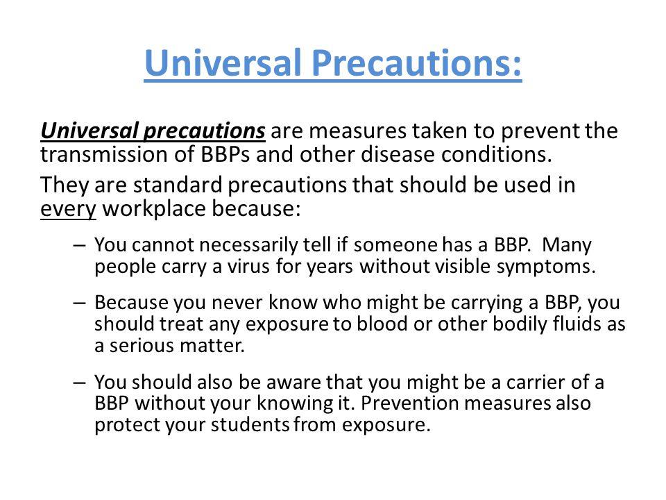 Universal Precautions:
