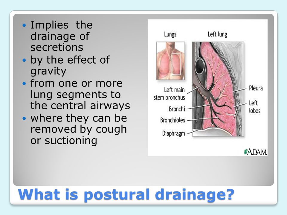 What is postural drainage