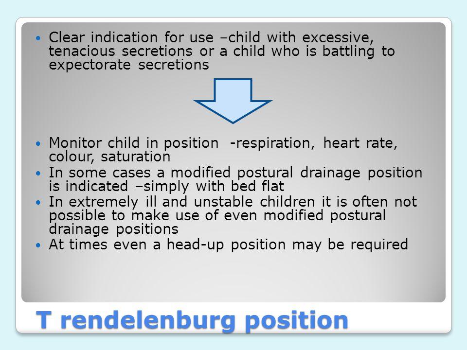 T rendelenburg position