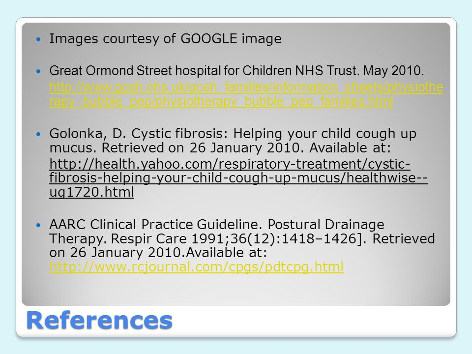 References Images courtesy of GOOGLE image