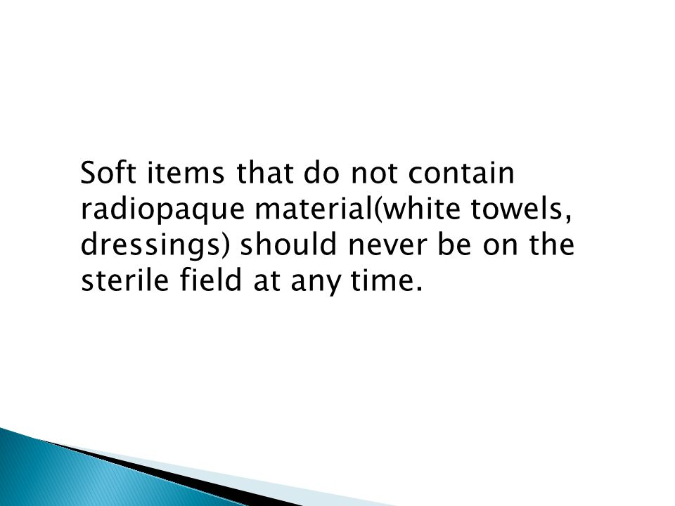 Soft items that do not contain