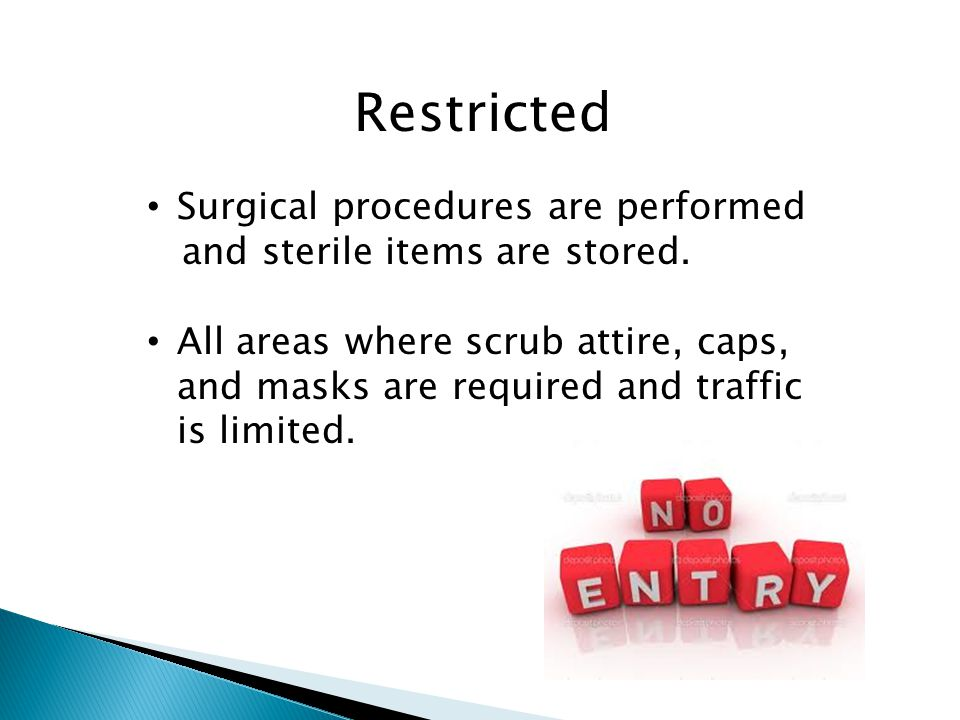 Restricted Surgical procedures are performed