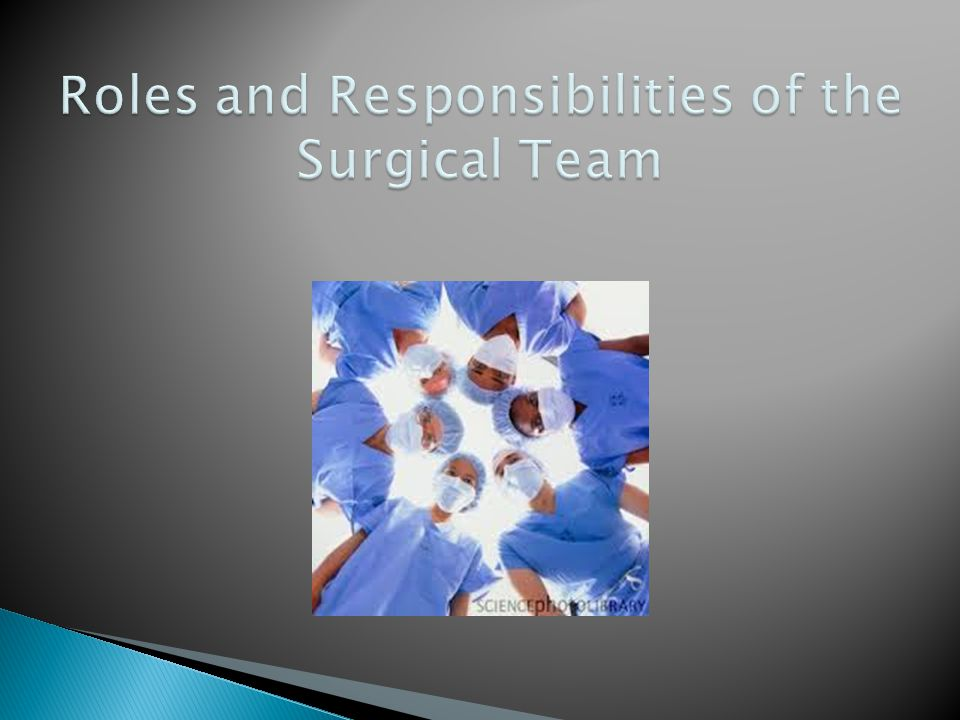 Roles and Responsibilities of the Surgical Team