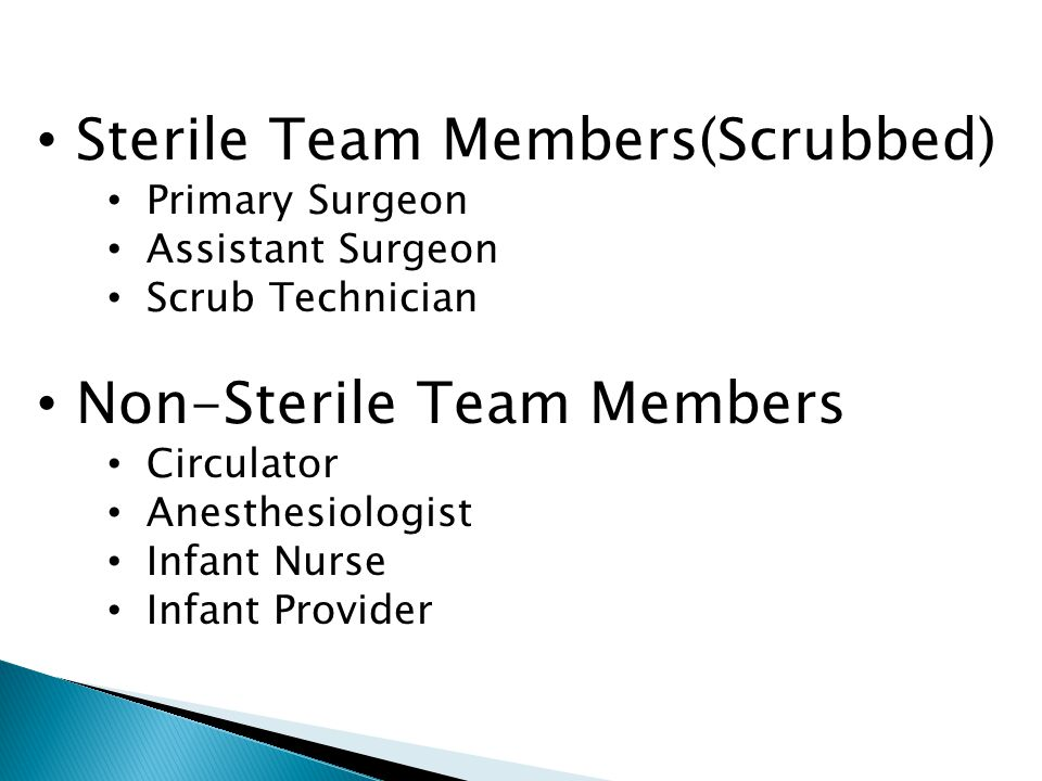 Sterile Team Members(Scrubbed)