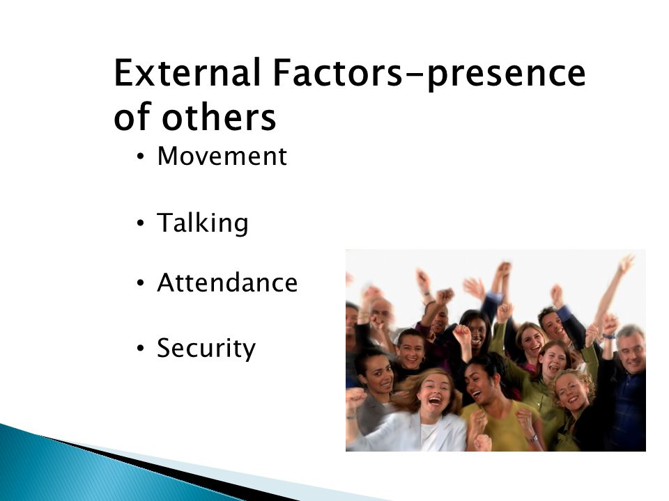 External Factors-presence of others