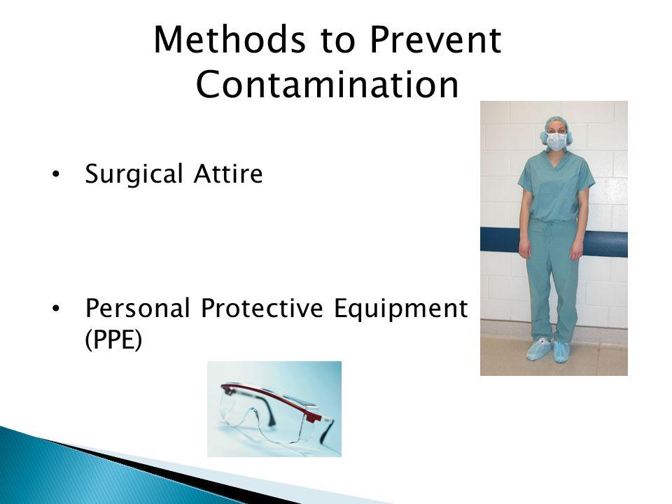 Methods to Prevent Contamination