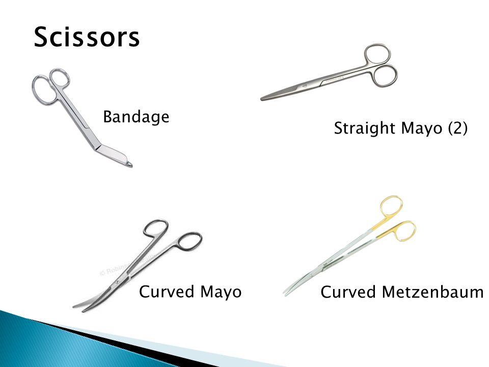 Scissors Bandage Straight Mayo (2) Curved Mayo Curved Metzenbaum