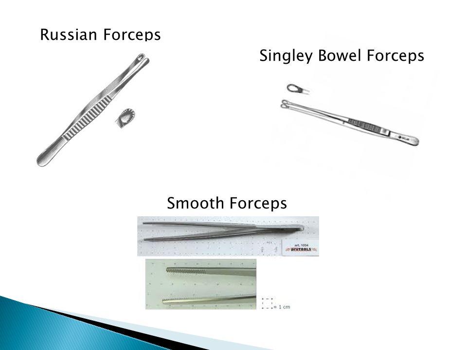Russian Forceps Singley Bowel Forceps Smooth Forceps