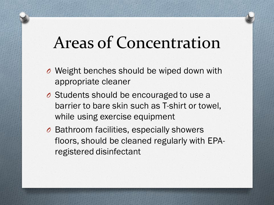 Areas of Concentration