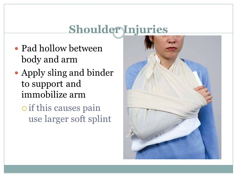 Shoulder Injuries Pad hollow between body and arm