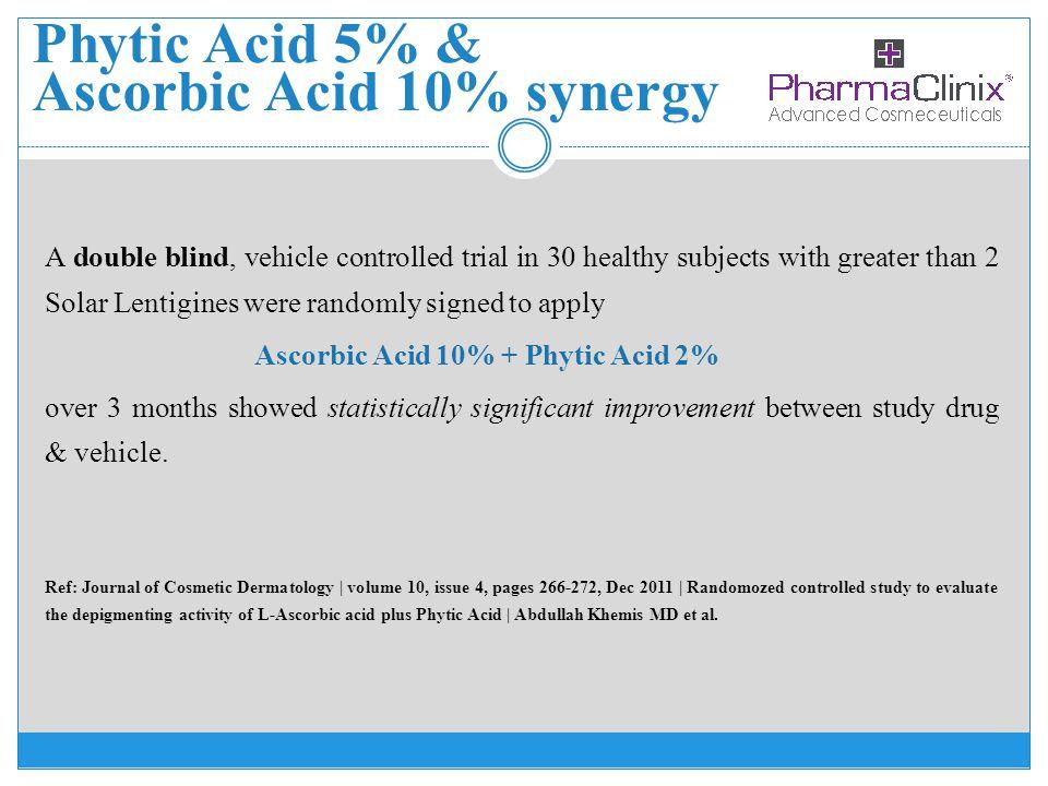 Phytic Acid 5% & Ascorbic Acid 10% synergy