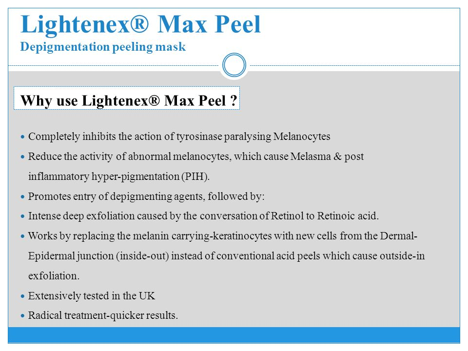 Lightenex® Max Peel Depigmentation peeling mask