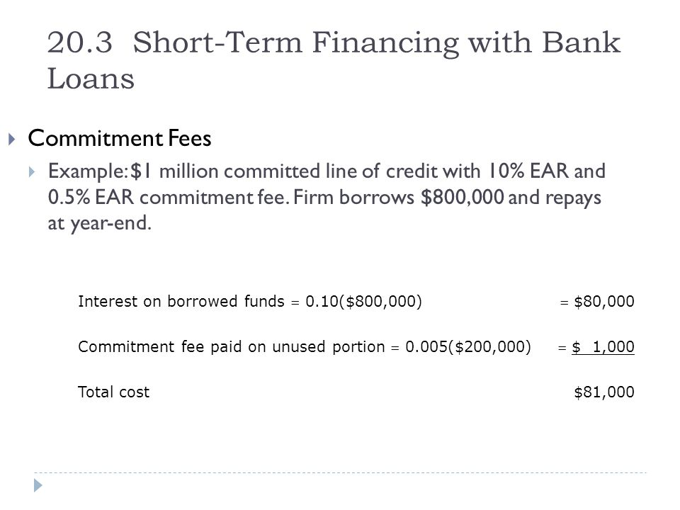 20.3 Short-Term Financing with Bank Loans