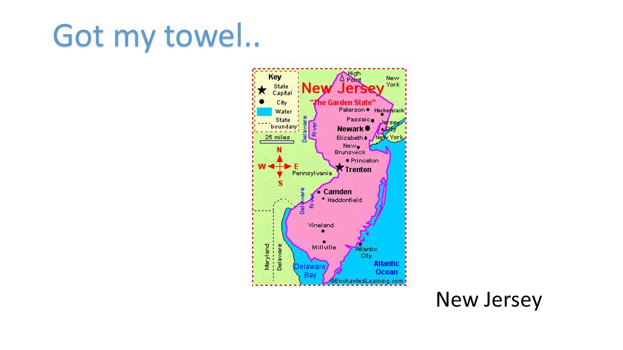 Got my towel.. New Jersey