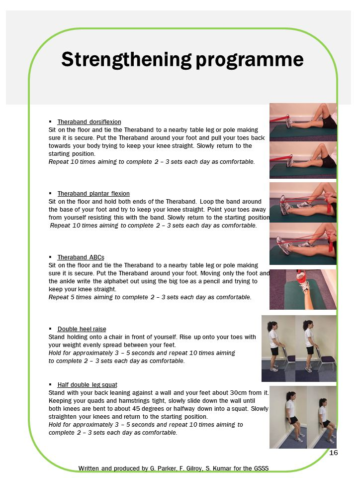 Strengthening programme