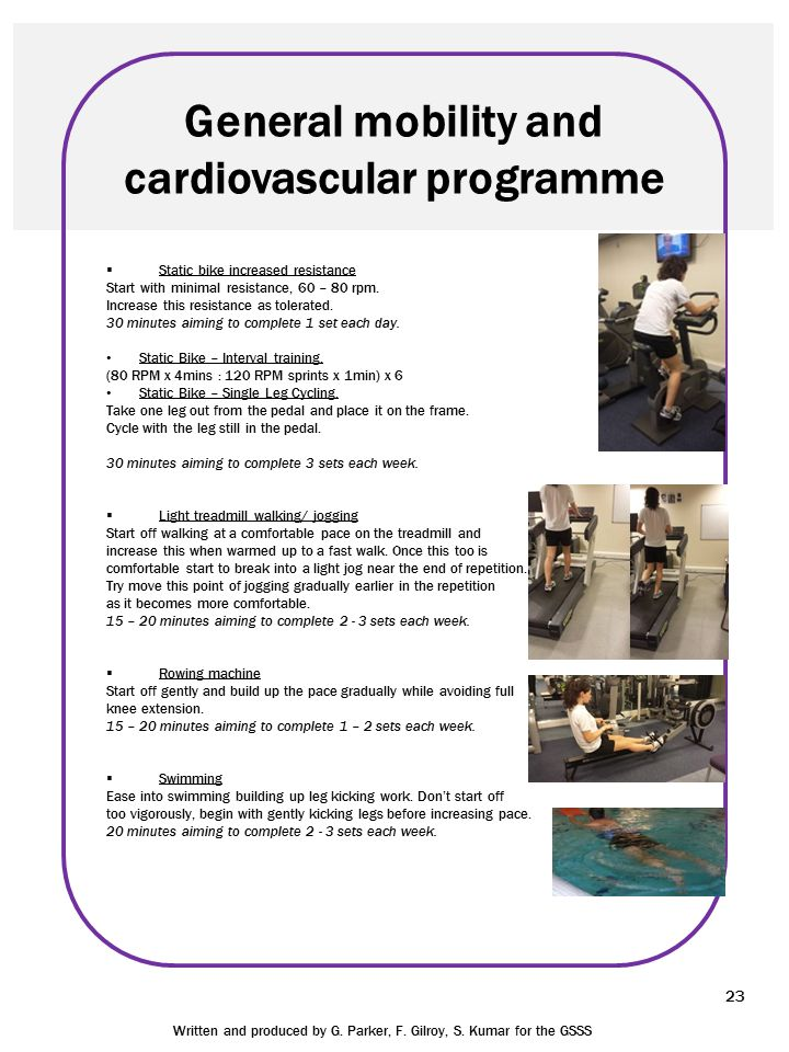 General mobility and cardiovascular programme