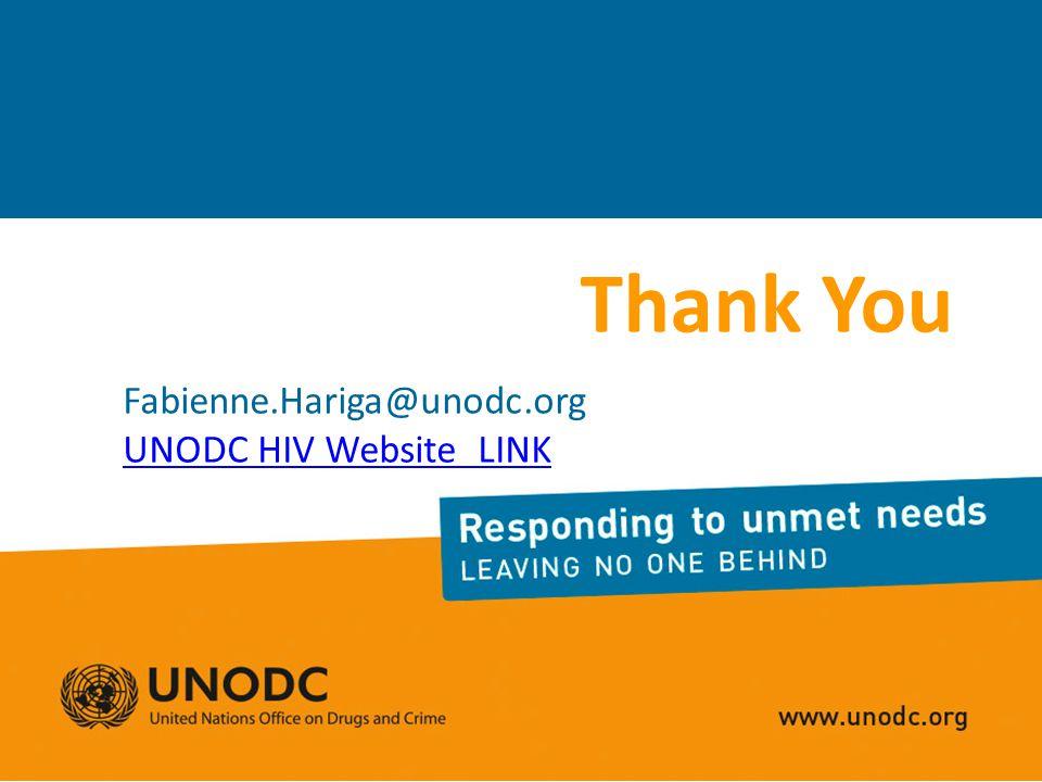 Thank You Fabienne.Hariga@unodc.org UNODC HIV Website LINK