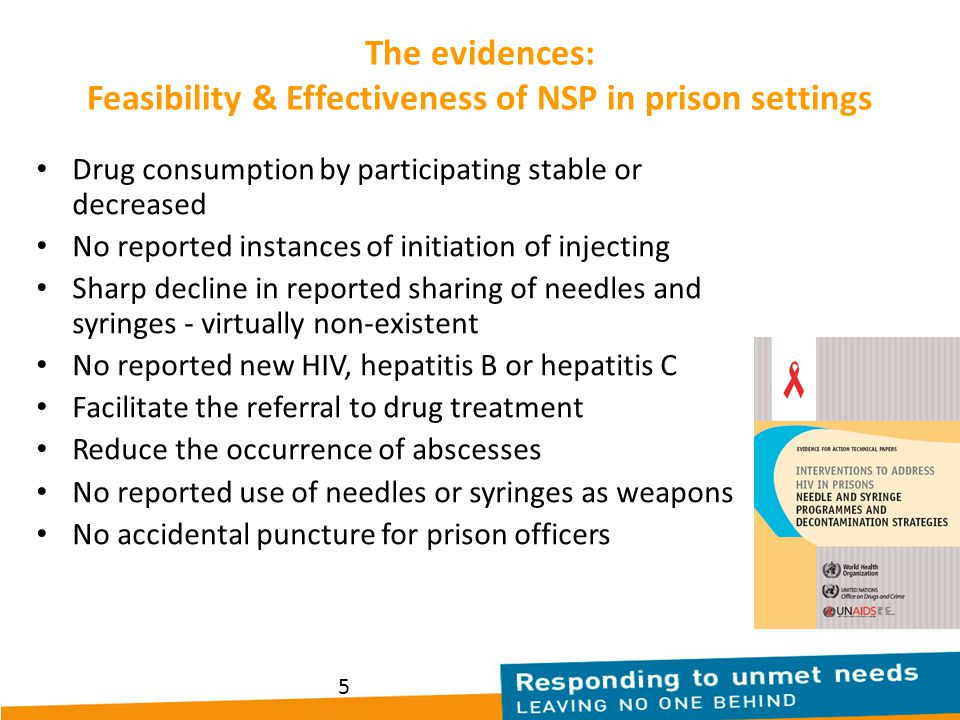 The evidences: Feasibility & Effectiveness of NSP in prison settings
