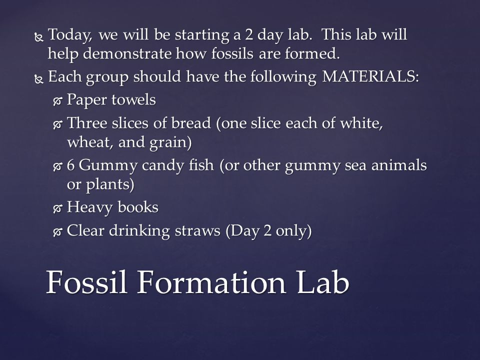 Today, we will be starting a 2 day lab