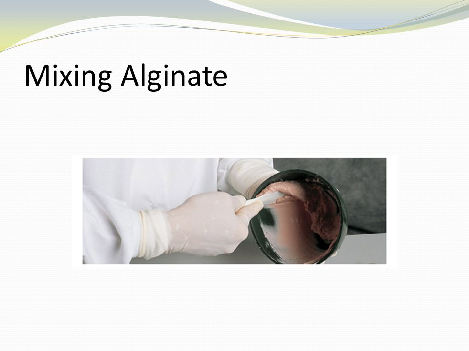 Mixing Alginate