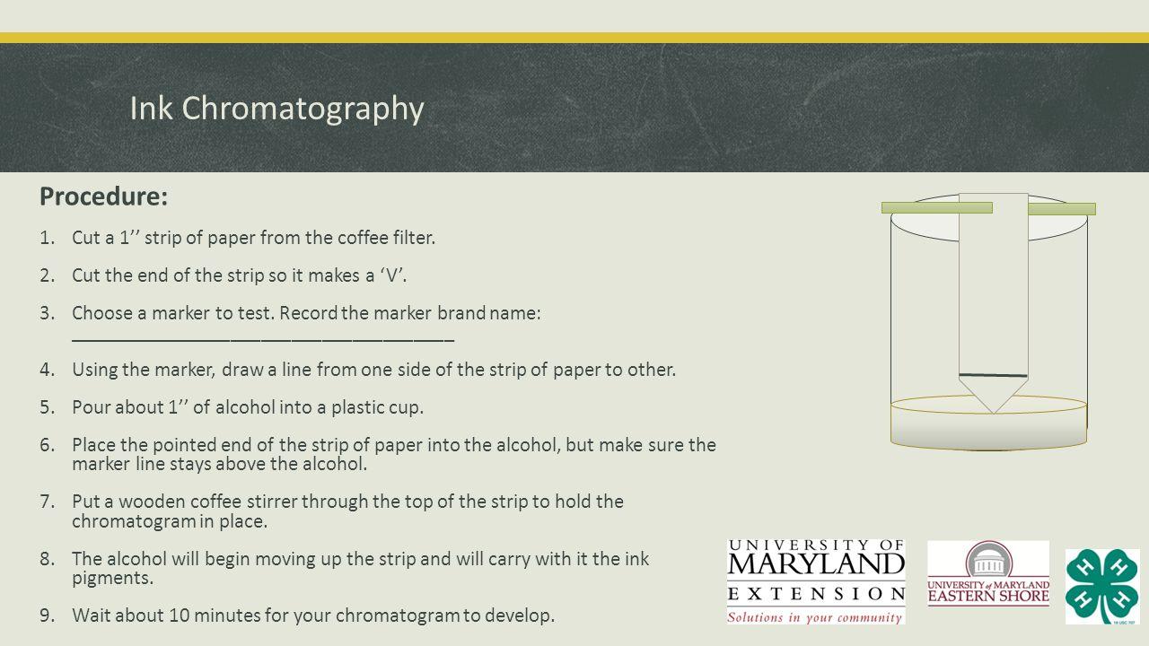 Ink Chromatography Procedure: