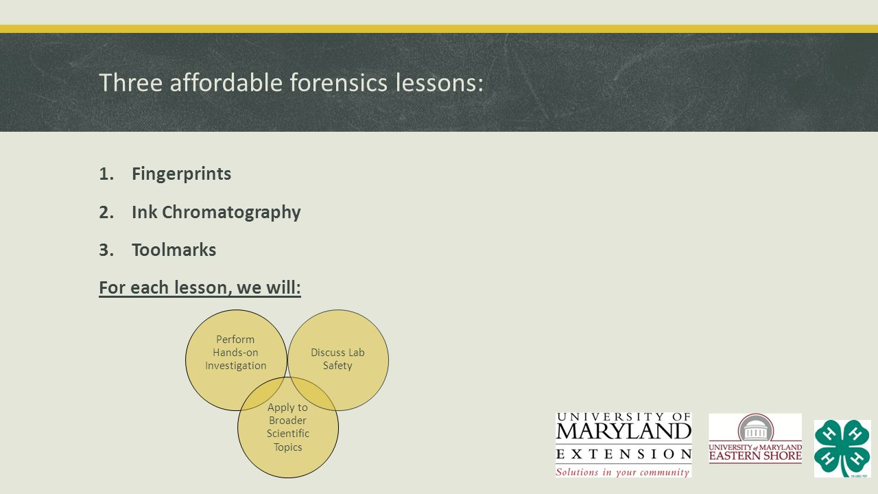 Three affordable forensics lessons: