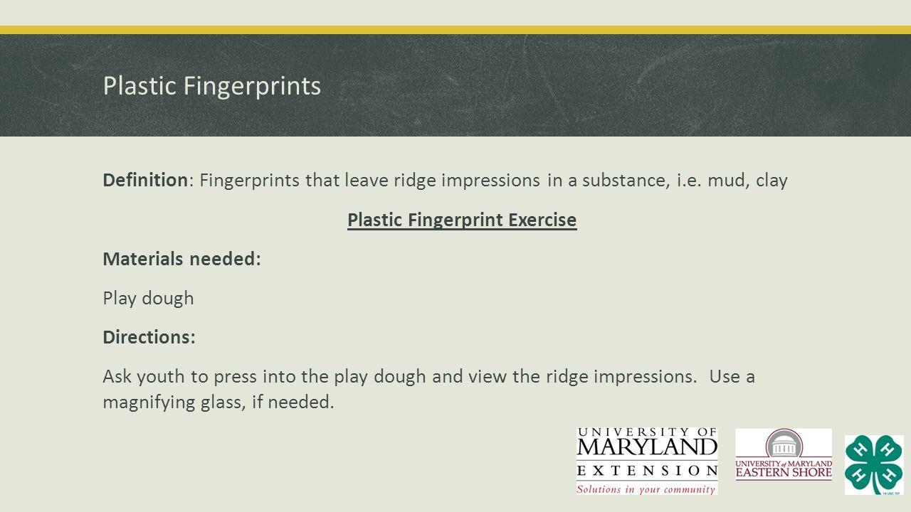 Plastic Fingerprints