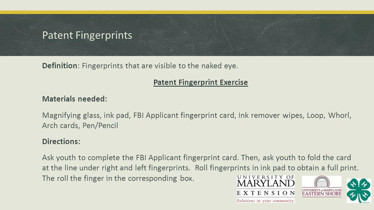 Patent Fingerprints