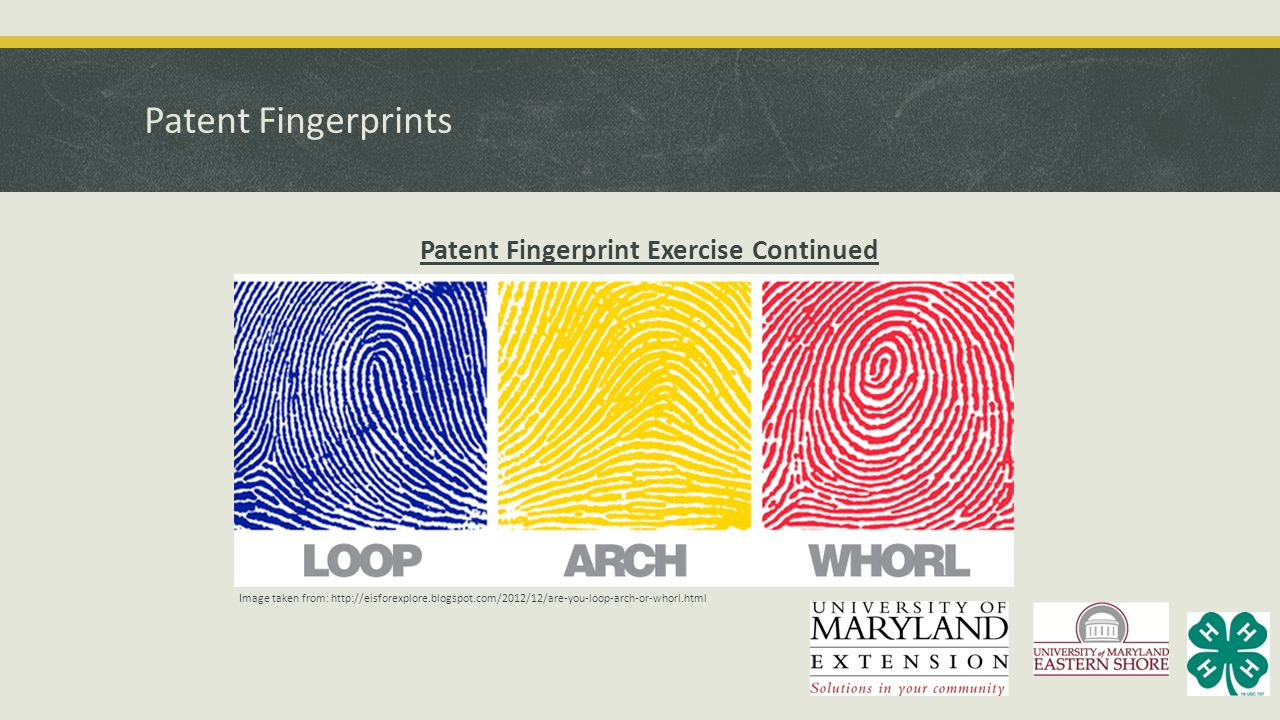 Patent Fingerprint Exercise Continued