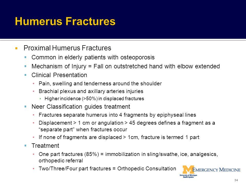 Humerus Fractures Proximal Humerus Fractures
