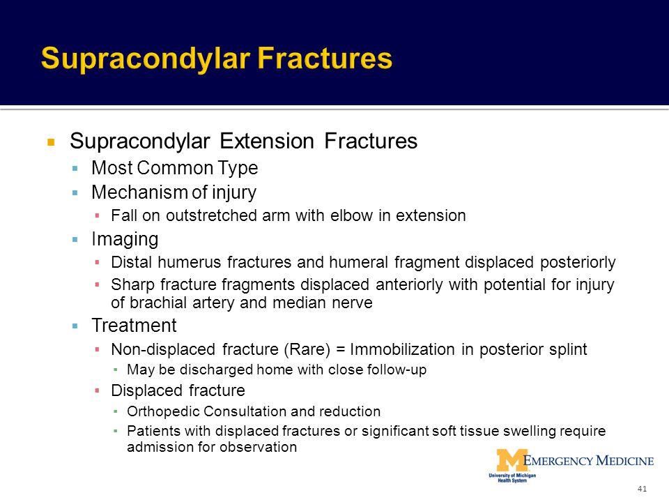 Supracondylar Fractures