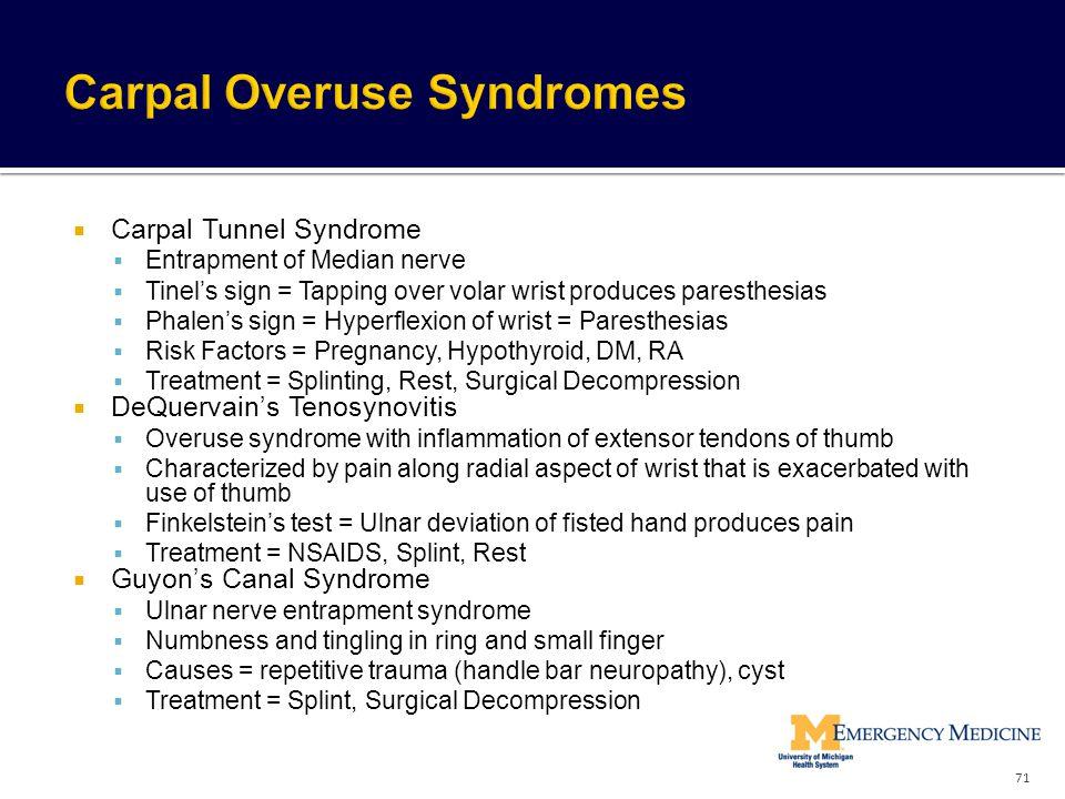 Carpal Overuse Syndromes