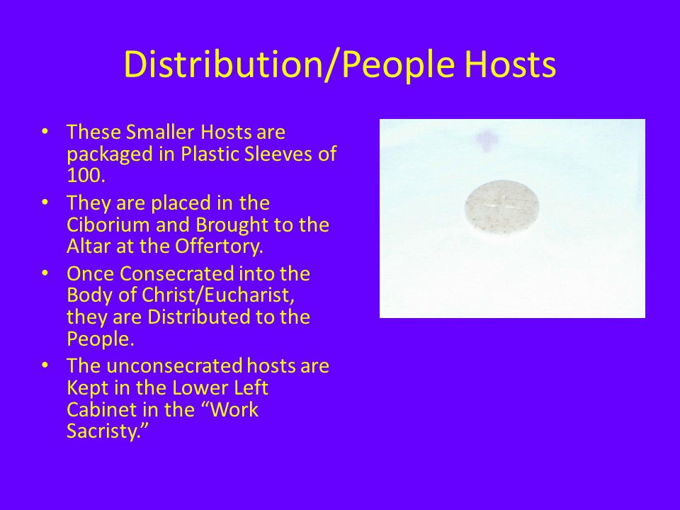 Distribution/People Hosts