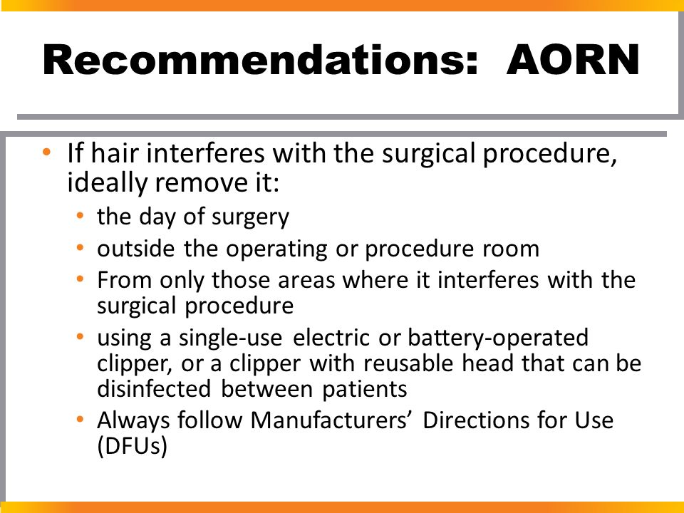 Recommendations: AORN