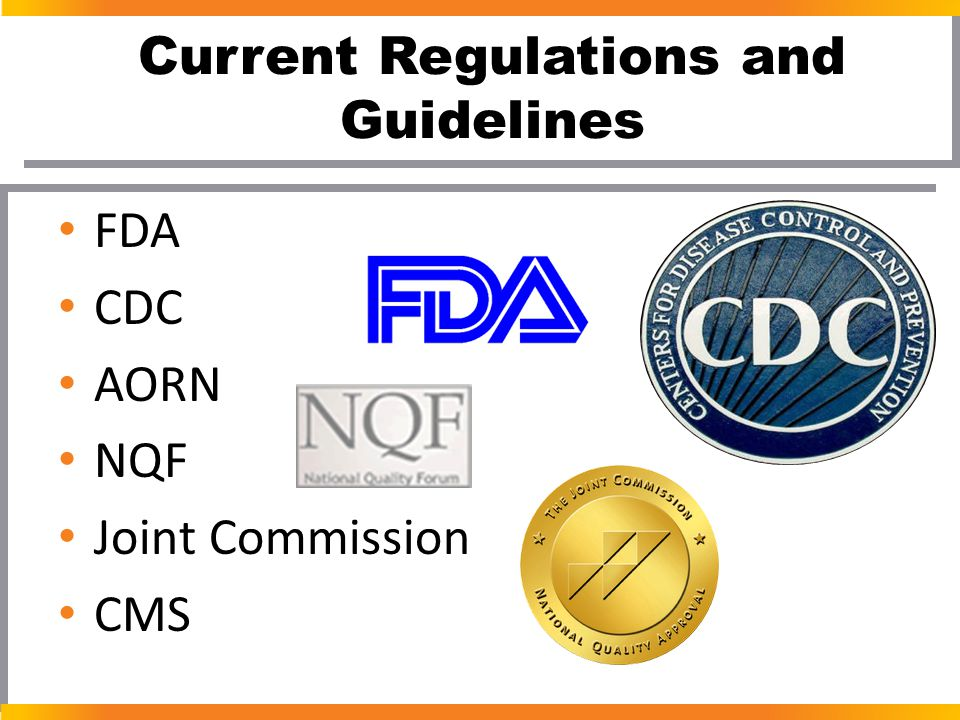 Current Regulations and Guidelines