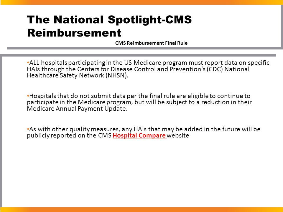 The National Spotlight-CMS Reimbursement