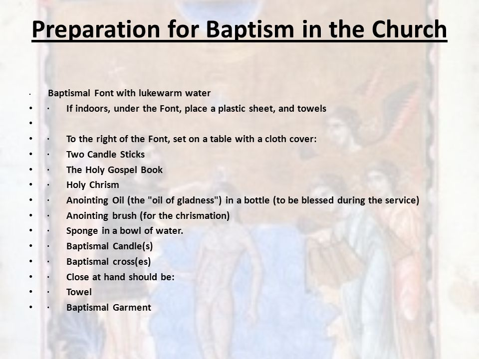 Preparation for Baptism in the Church