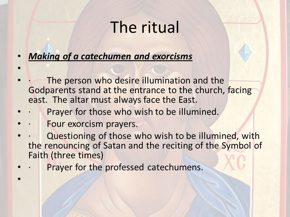 The ritual Making of a catechumen and exorcisms