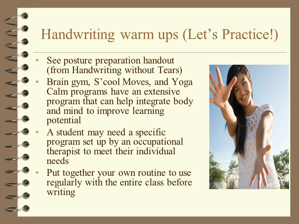 Handwriting warm ups (Let's Practice!)