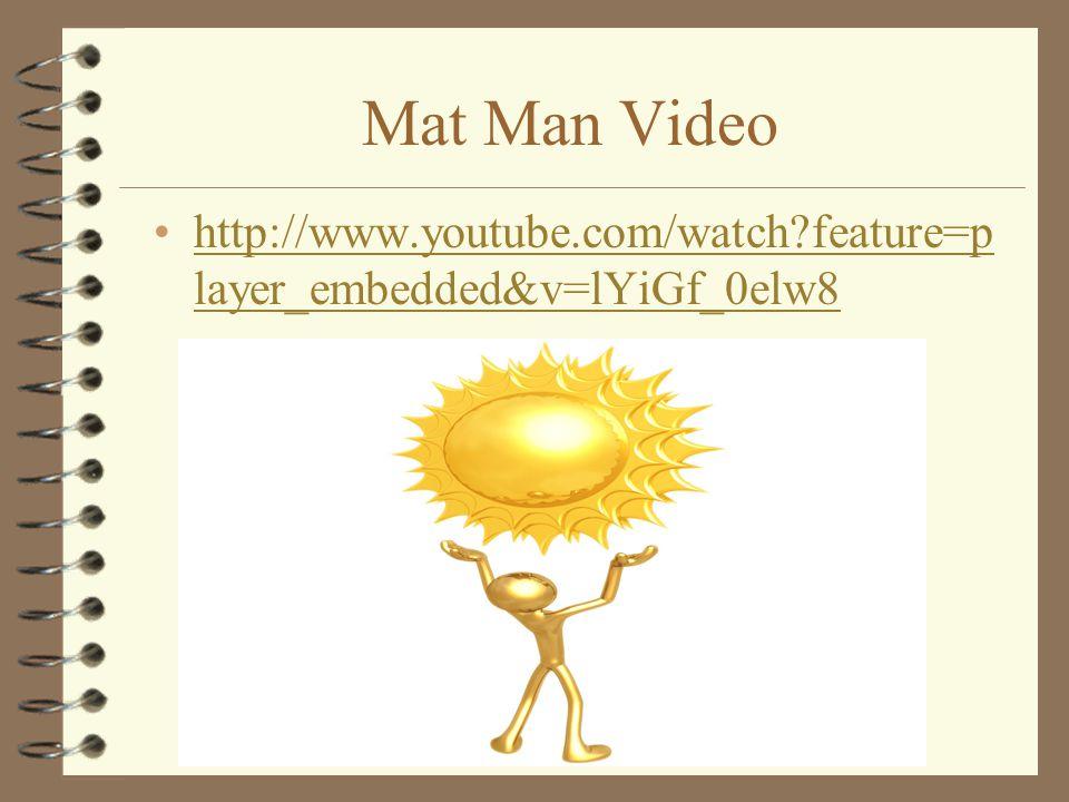 Mat Man Video http://www.youtube.com/watch feature=player_embedded&v=lYiGf_0elw8